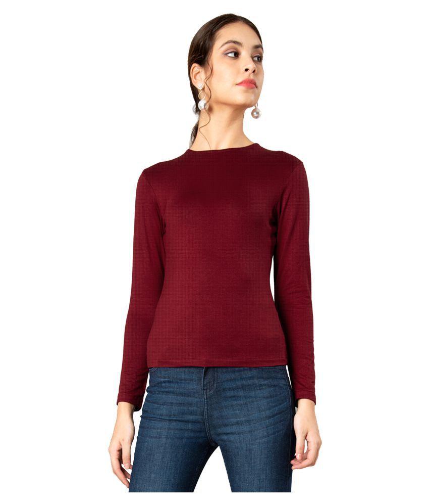 CHKOKKO Round Neck Full Sleeve Yoga Sports Dryfit Active Wear Gym Tshirt for Women