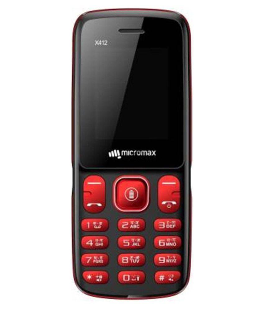 Micromax X412 Dual Sim Black Red