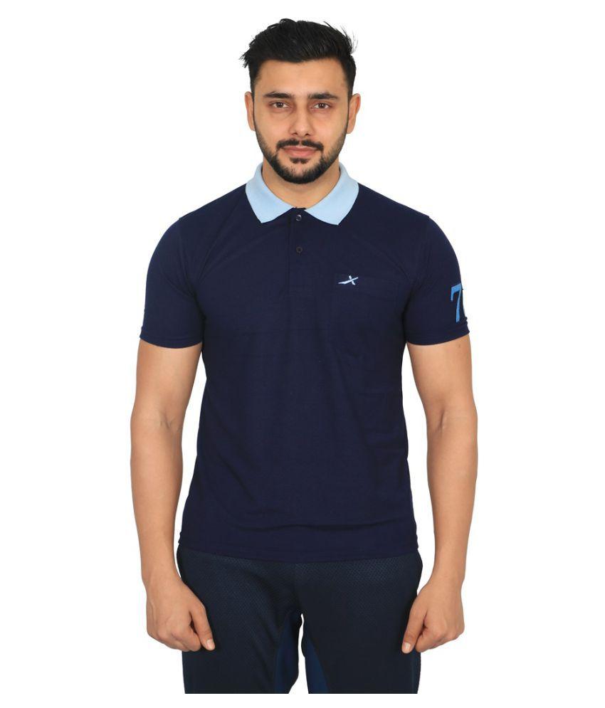 Vector X VTD-046-N (Navy) Men's Polo Neck T-Shirt