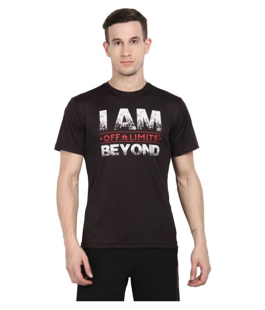 OFF LIMITS Polyester Black Color Block T-Shirt