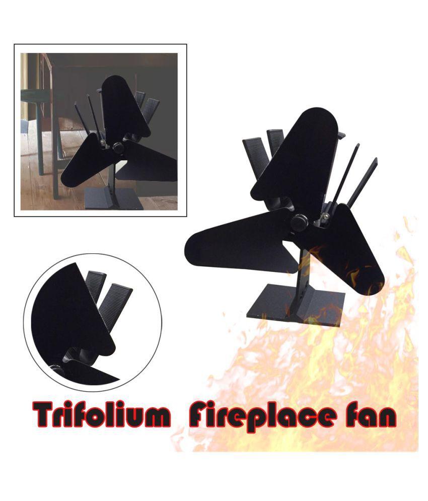 3-Blade Thermo-motive Fireplace Fan Heating Furnace Heat Powered Stove Fan