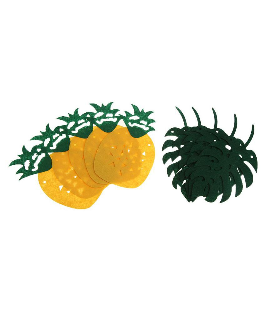 2.5m Tropical Hawaii Pineapple Felt Leaf Garland Bunting Baby Shower Party