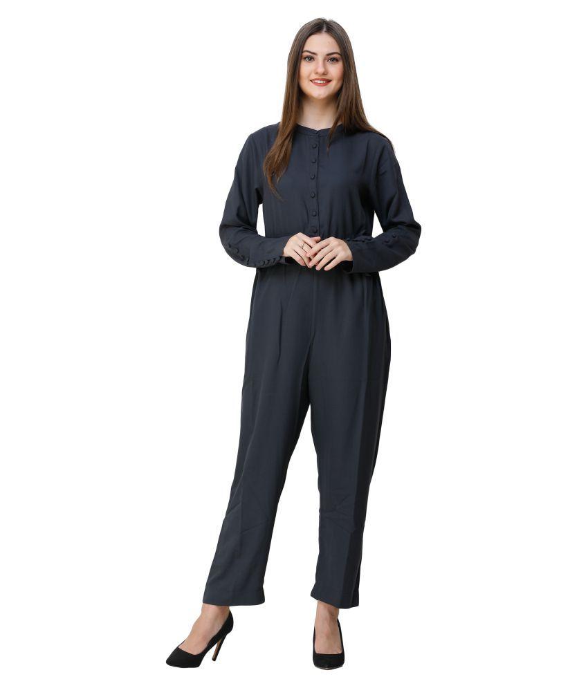 Silk Route London Blue Polyester Jumpsuit