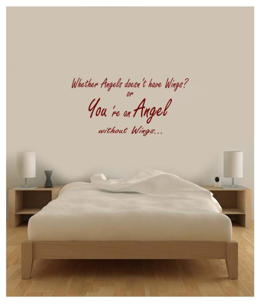 Ritzy You re an Angel Wall Quotes Decal Motivational Quotes Sticker 60 x 30 cms