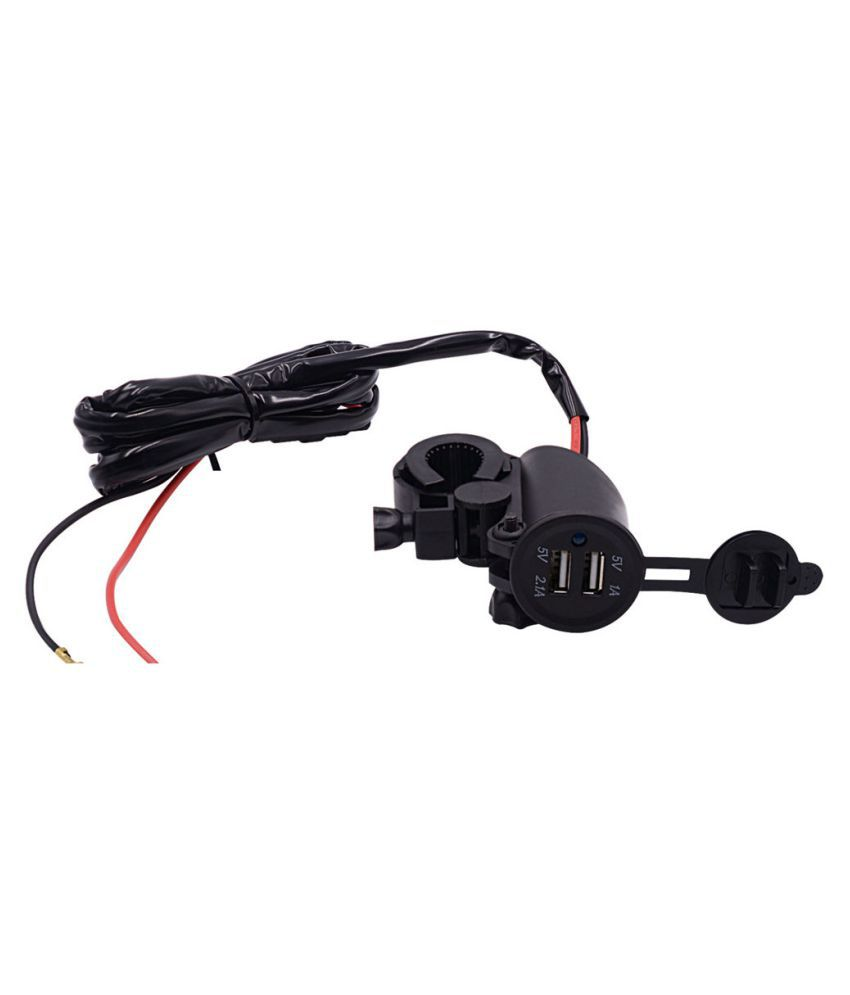 12V Waterproof 2USB Motorcycle Mobile Phone GPS Power Supply Port Socket Charger