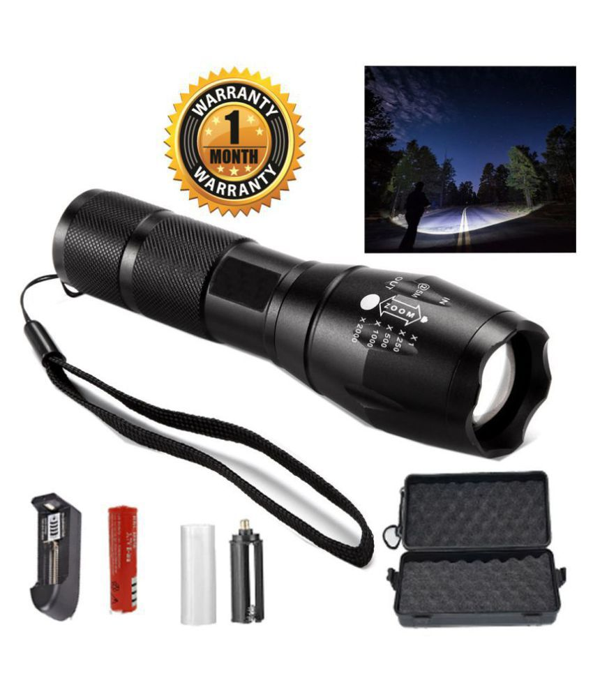 UC 13W Flashlight Torch 5 Mode Rechargeable - Pack of 1
