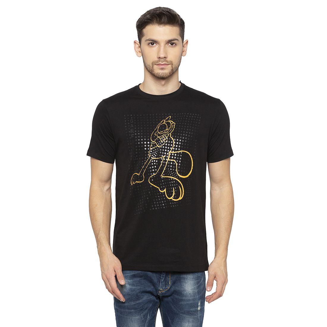 Status Quo 100 Percent Cotton Black Printed T-Shirt