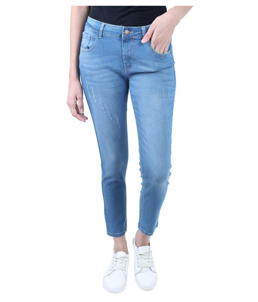 Curlx Fashion Denim Jeans - Blue
