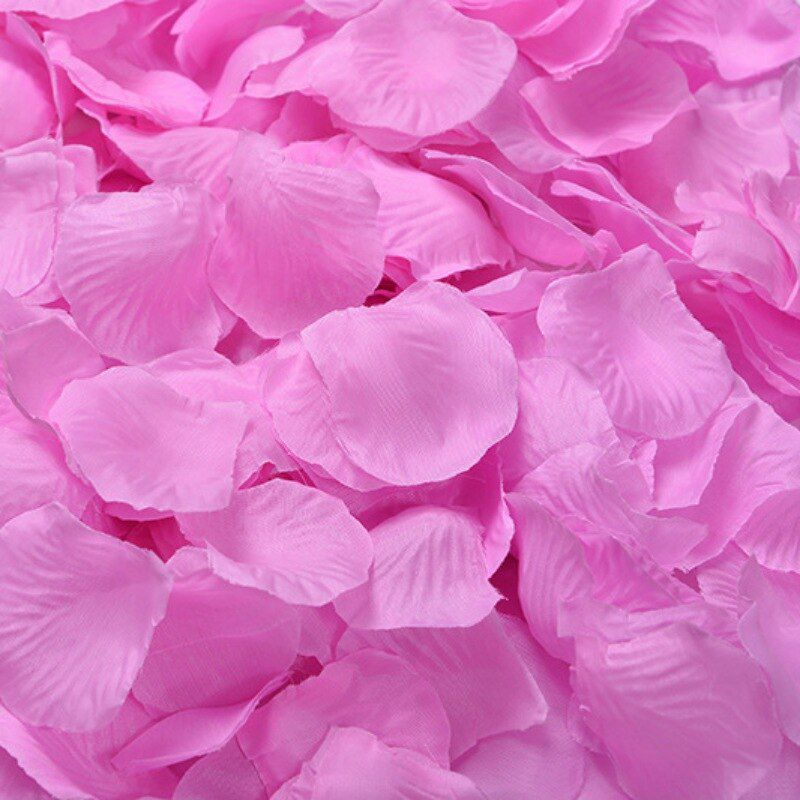 Various Silk Rose Flower Petals Leaves for Wedding Party Table Confetti Decor
