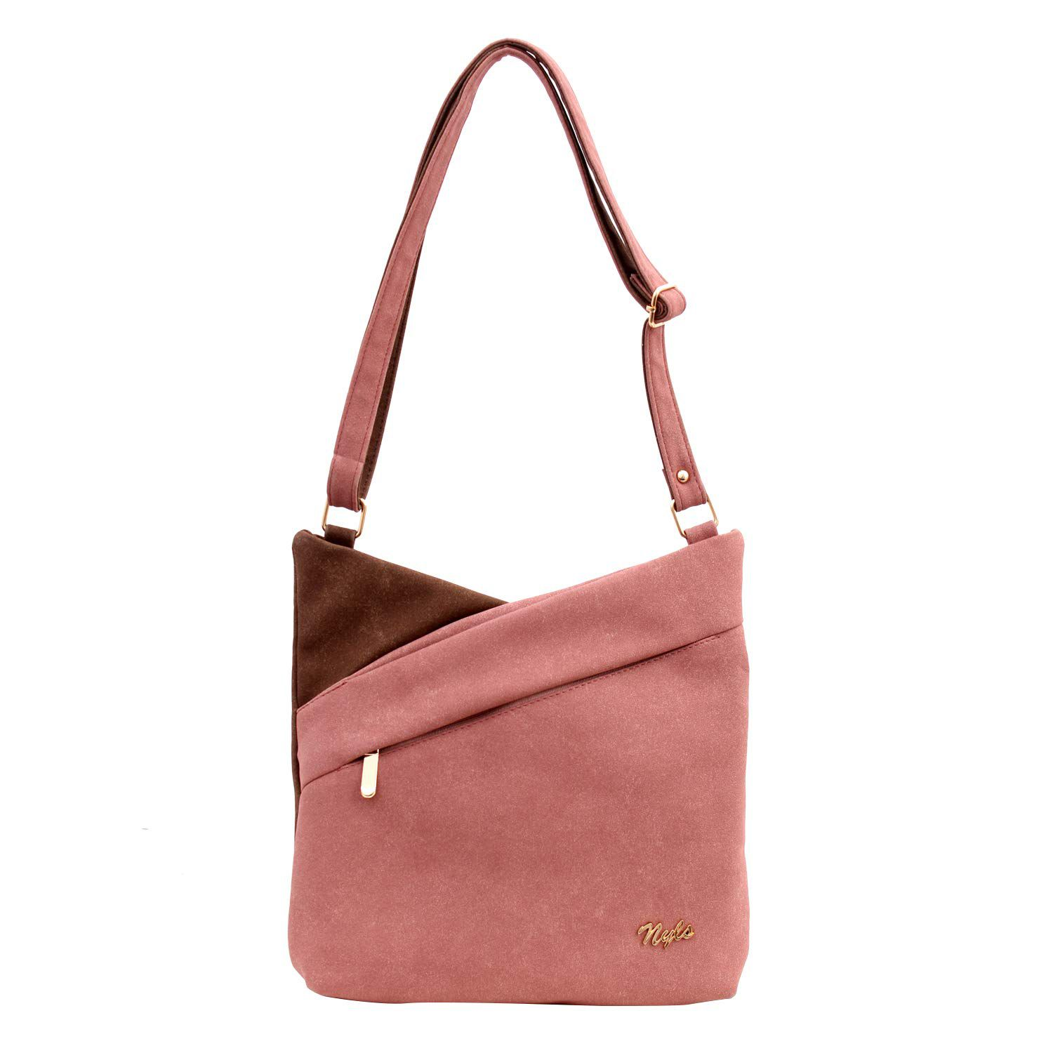 NYLS Pink Synthetic Casual Messenger Bag