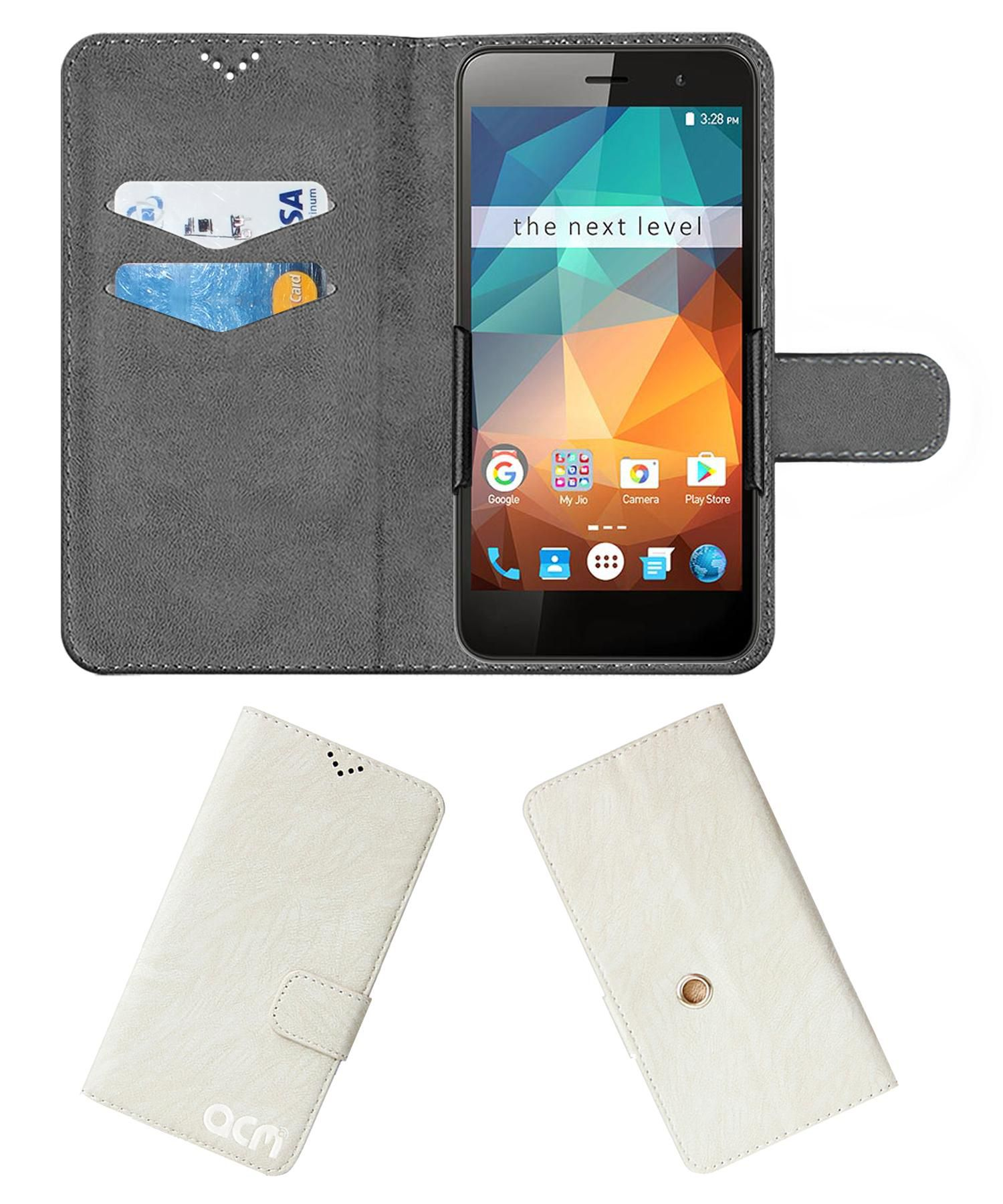 Xolo Era 2X (3 GB RAM) Flip Cover by ACM - White Clip holder to hold your mobile securely