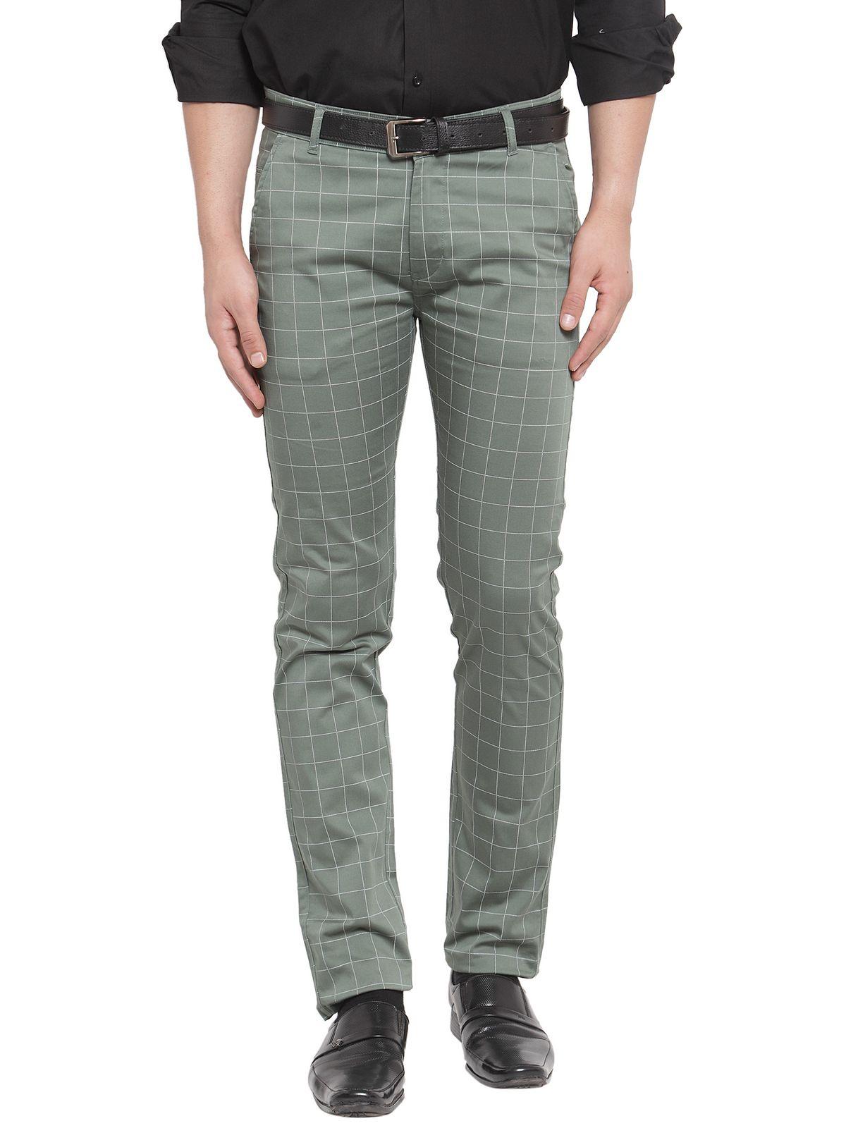 Hancock Green Slim -Fit Flat Chinos