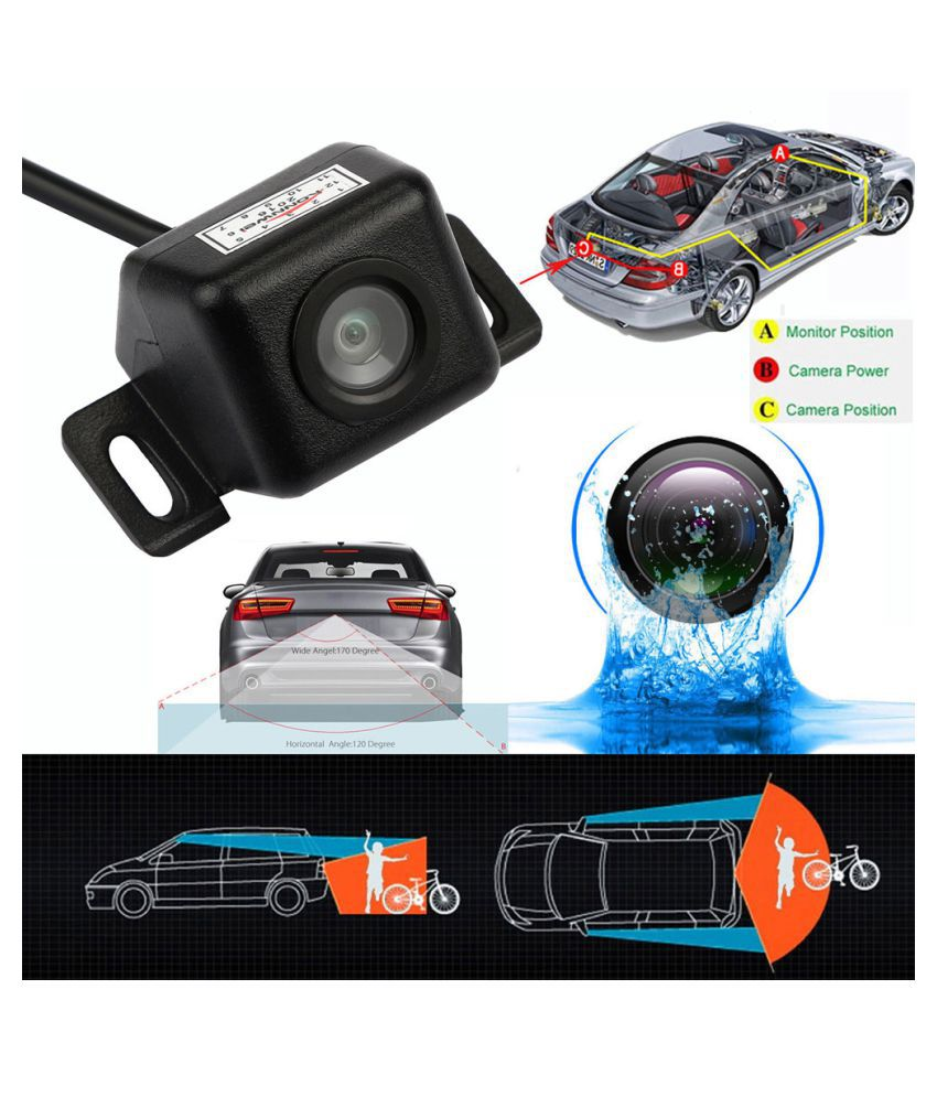 Anti Fog Night Vision Waterproof Car Rear View Reverse Backup Camera /& 170° CMOS