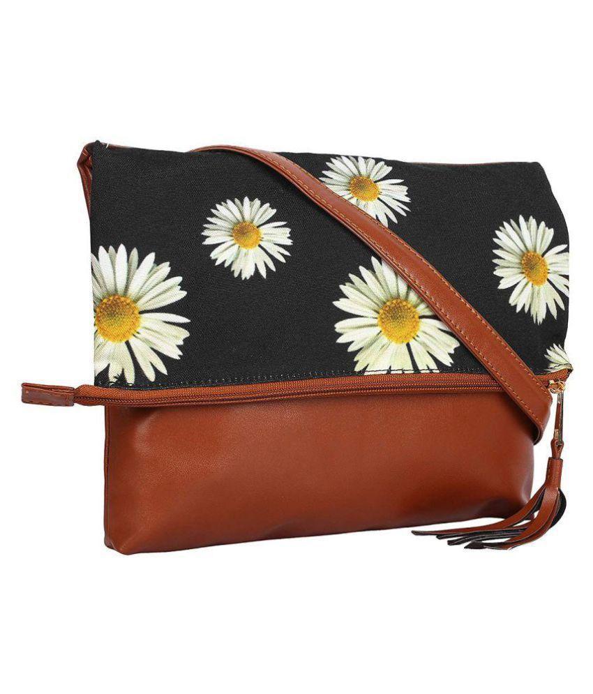 DC CONCEPTS Brown P.U. Sling Bag