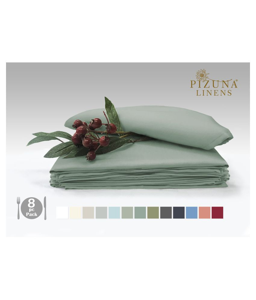 Pizuna Linens Set of 8 Cotton Napkin