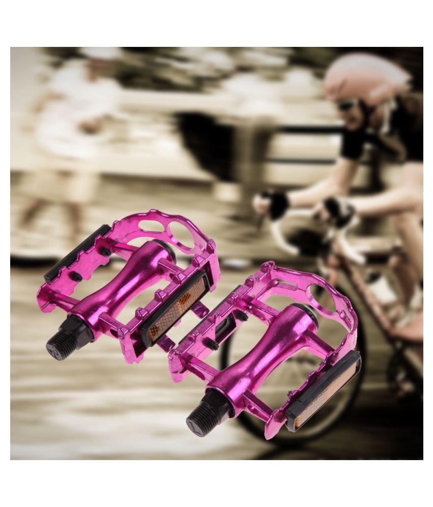 "1 Pair Road Bike Bicycle BMX MTB Aluminium Alloy 9//16/"" Pedals w// Light Reflector"