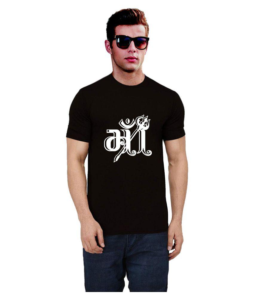 Ritzees Cotton Blend Black Printed T-Shirt