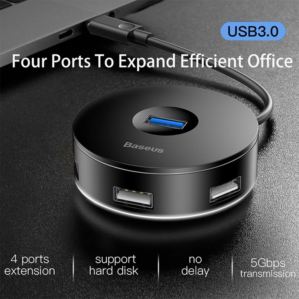 Baseus 4in1 USB Hub Splitter Type C to 1*USB3.0 3*USB2.0 Adapter for MacBook PC