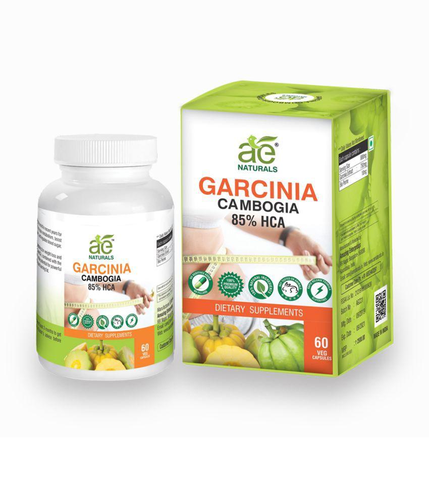 AE Naturals Pure Organic Garcinia 60 Capsules 800Mg 1 no.s