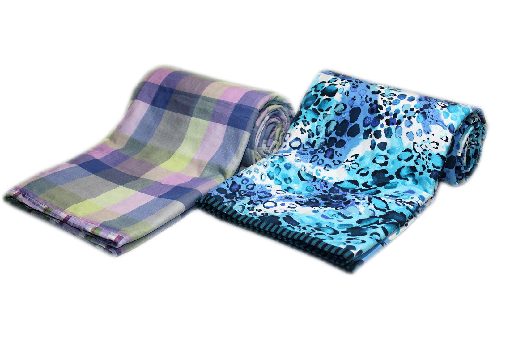 Elan Dreams Single Cotton Multi Contemporary Dohar Set of 2