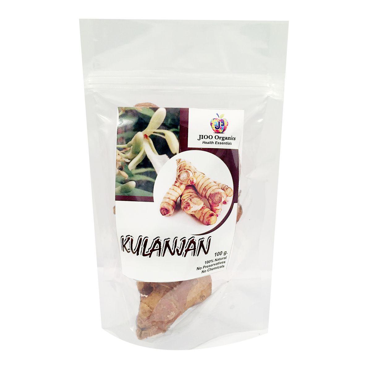 Jioo Organics 100% Natural Premium Kulanjan Raw Herbs 1 gm