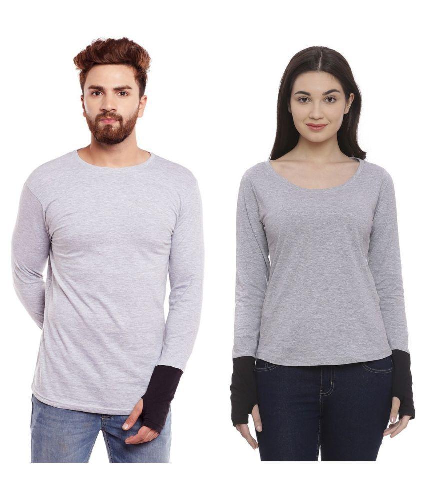 Bombay Clothing Company Grey Cotton blend Couple Combo