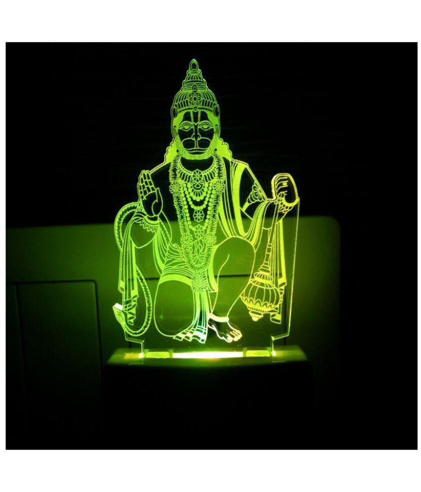 CORNICK INDUSTRIES Hanumanji 2001(Free Pen Stand)3D Night Lamp Multi - Pack of 1