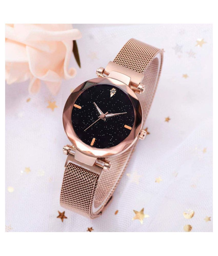 qexle Metal Round Womens Watch