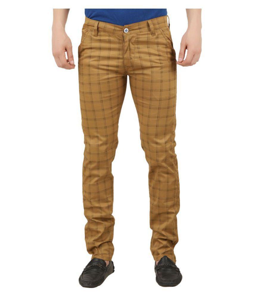 Sparking Beige Slim -Fit Flat Trousers