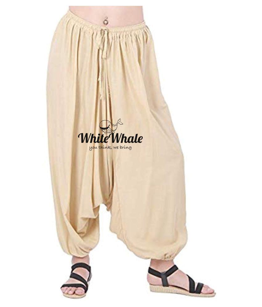 Whitewhale Beige Loose -Fit Harem