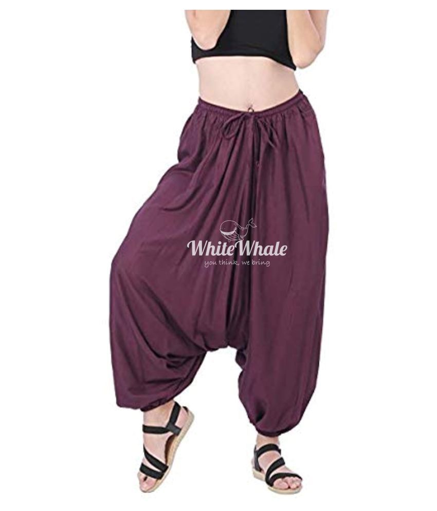 Whitewhale Purple Loose -Fit Harem