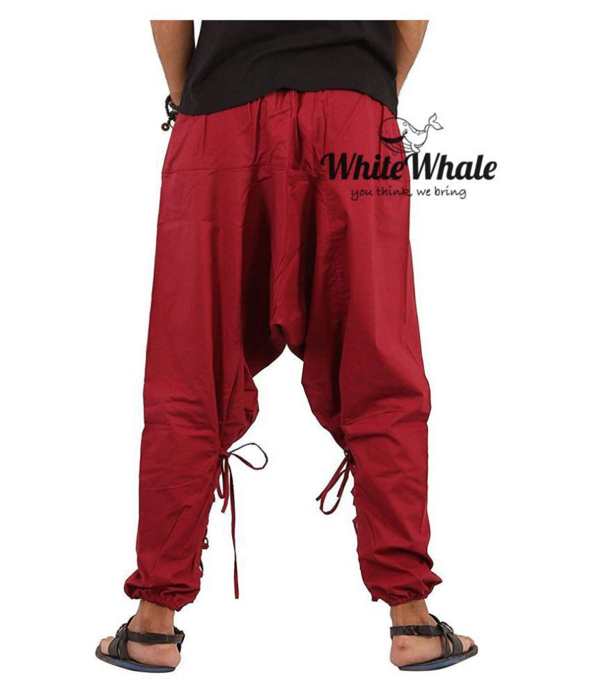Whitewhale Red Loose -Fit Harem