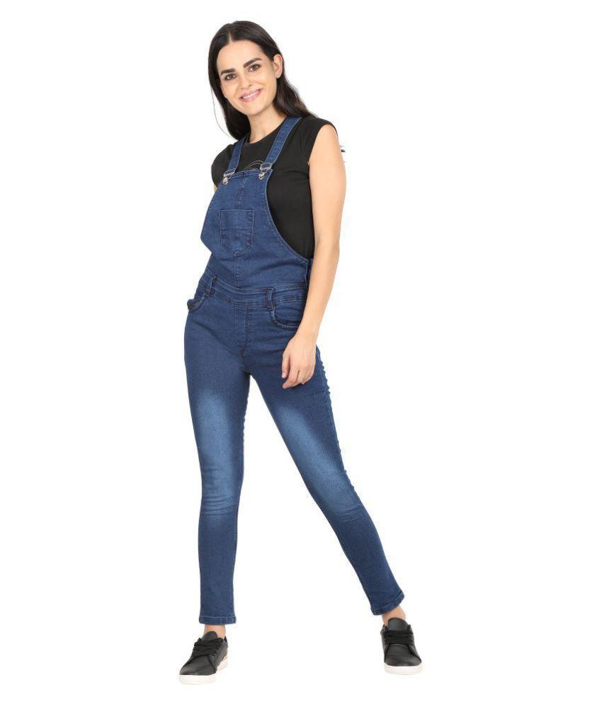 Curlx Fashion Blue Denim Jumpsuit