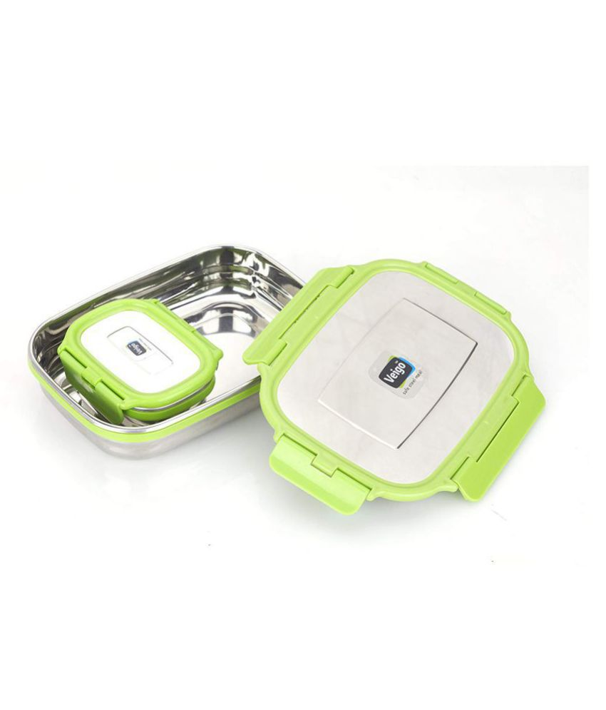 Veigo Green Stainless Steel Lunch Box