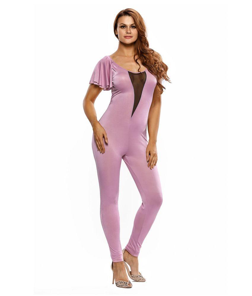 Kaamastra Purple Polyester Jumpsuit