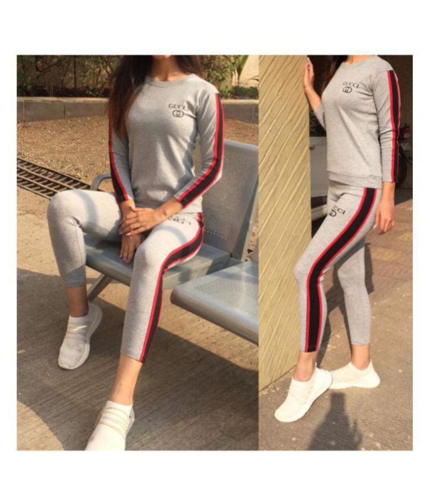 Gucci Grey Cotton Printed Tracksuit