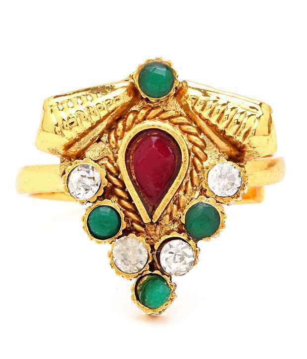 Sukkhi Delightly Gold Plated Australian Diamond Stone Studded Toe ring