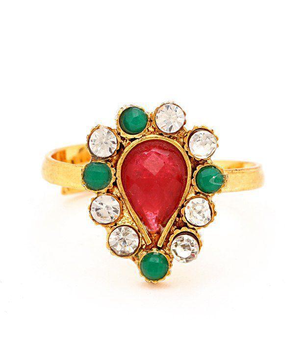Sukkhi Glorious Gold Plated Australian Diamond Stone Studded Toe ring