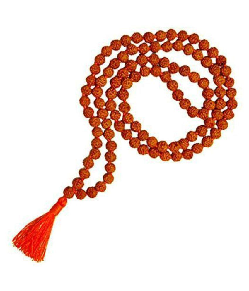 Rudraksha Japa Beads Mala 7 mm 108+1 for Men Women Boys and Girls Wood Necklace