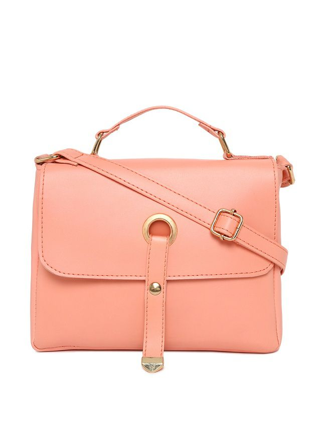 Aliado Peach Puff Synthetic Casual Messenger Bag