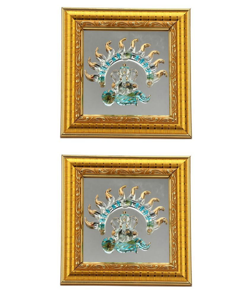 Somil Wood Multicolour Single Photo Frame - Pack of 2