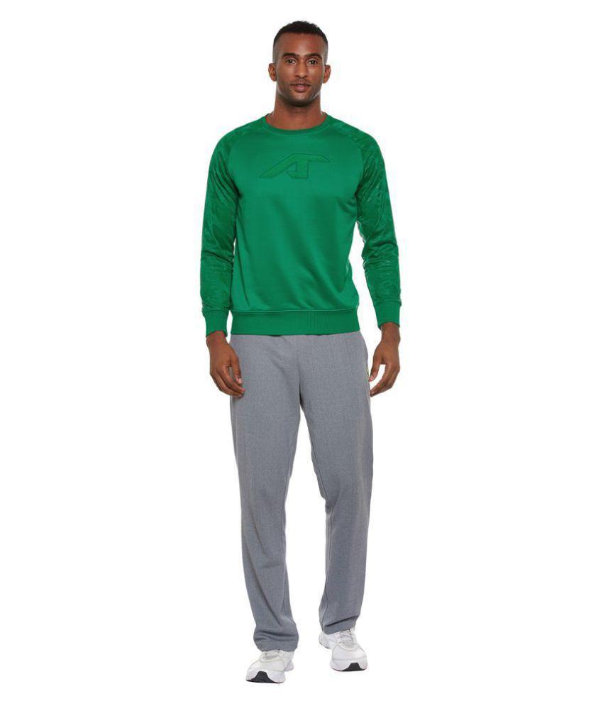 Alcis Green Polyester Fleece Sweatshirt
