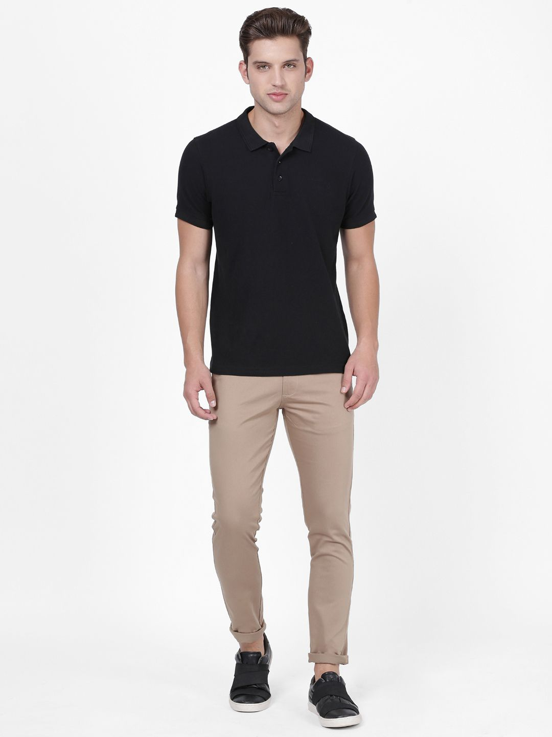 NO NEXT Brown Slim -Fit Trousers
