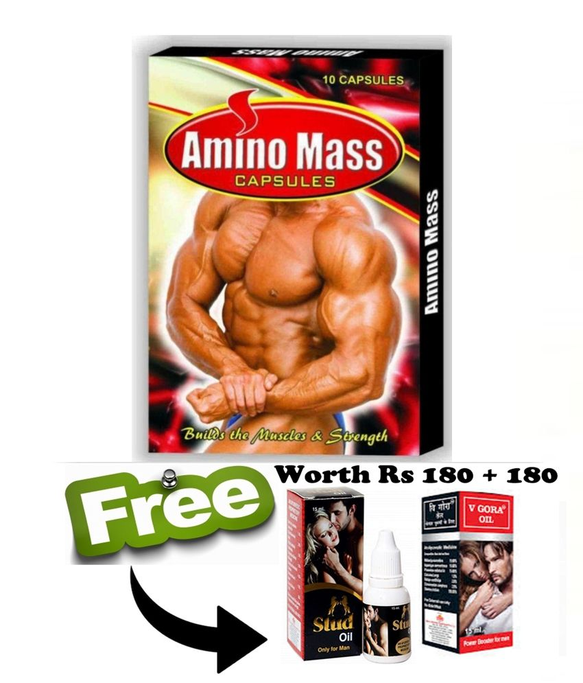 Ayurveda Cure Amino Mass Capsule (10x5=50 Capsules) 50 no.s Unflavoured