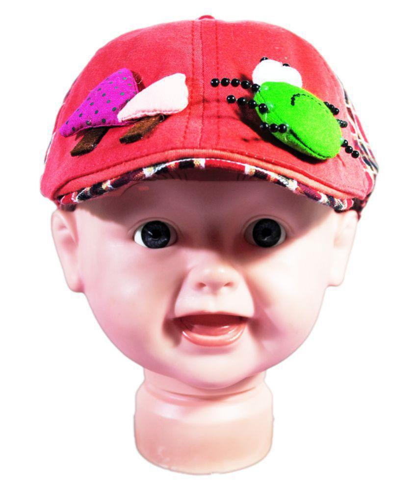 Kids Stylish Plaid Beret Cap Red
