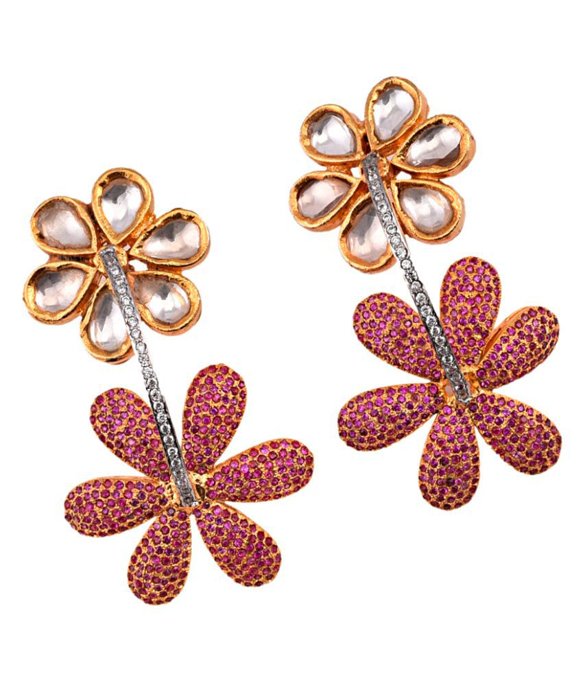 Gold Plated Traditional Earring for Women by Designer Mehak Gupta