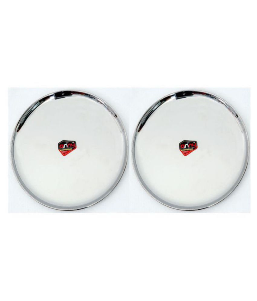 Anny Kitchenware 2 Pcs Stainless Steel Full Plate