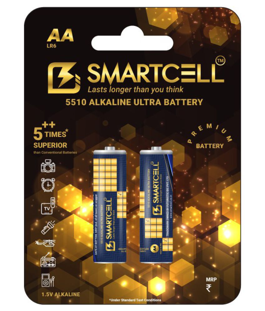 Smartcell AA Alkaline 1.5V Premium Series Non Rechargeable Battery 2