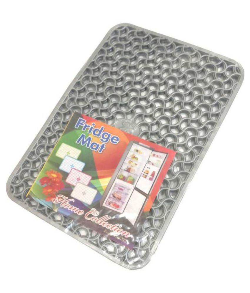 Khushi Creation Set of 6 PVC Gray Fridge Mats