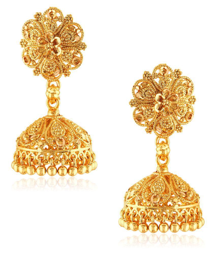 Vighnaharta Traditional Wedding waer Jhumki Earring Alloy Gold  Plated Jhumka for Women and Girls
